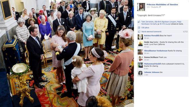 Prinsessa Leonoren kastetilaisuus, ristiäiset - Facebook