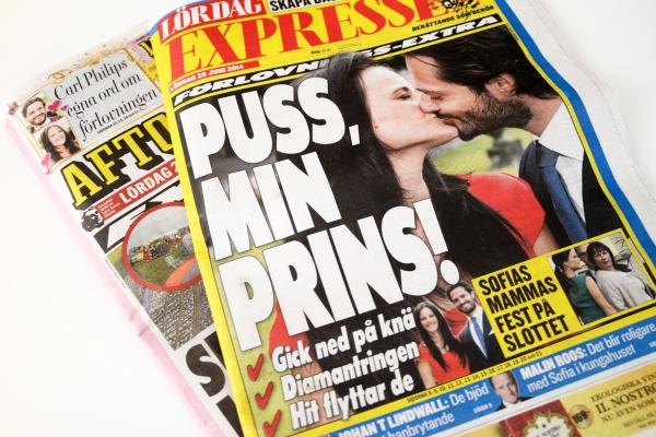 Ruotsin prinssi Carl Philip ja Sofia Hellqvist kihloihin
