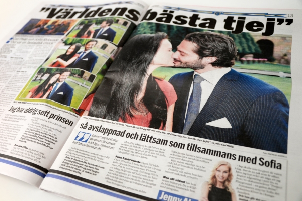 Ruotsin prinssi Carl Philip ja Sofia Hellqvist naimisiin