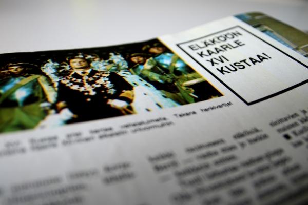 Ruotsin kuninkaan kuolema ja valtaannousu suomalaisessa lehdessä - kuninkaalliset