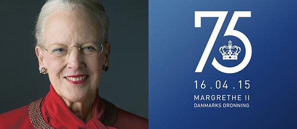 Tanskan kuningatar Margareetan syntymäpäivä, 75 vuotta