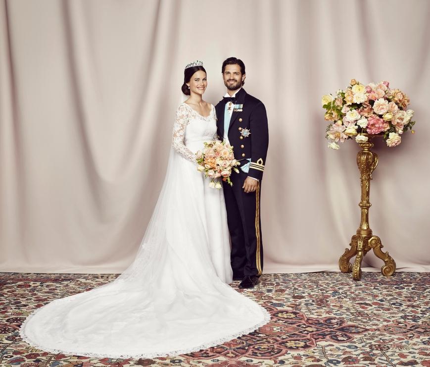 Ruotsin prinssi Carl Philipin ja prinsessa Sofian viralliset hääkuvat