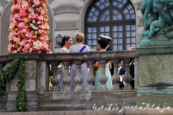 Ruotsin prinssi Carl Philipin ja Sofia Hellqvistin häät, paikalla Tukholmassa, Hovikirjeenvaihtaja, Kuninkaalliset