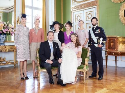 Prinsessa Leonore kastejuhla, ristiäiset, viralliset kuvat