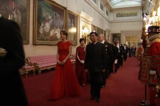 Herttuatar Catherine, Kate Middleton, prinssi Willian valtiovierailun juhlaillallisella, tiara, kuninkaalliset, hovikirjeenvaihtaja
