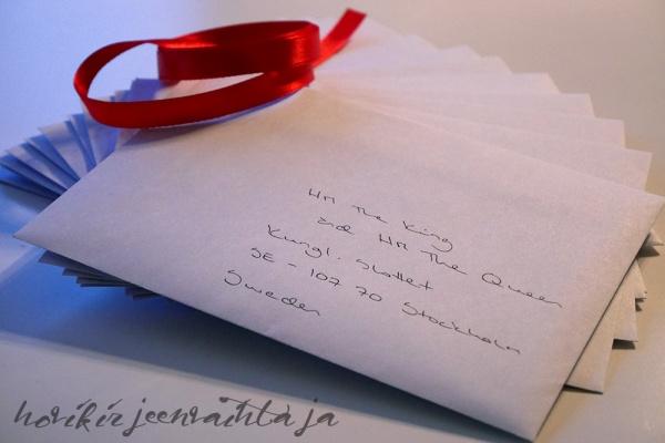 Joulukortti, kirje kuninkaalliselle, Hovikirjeenvaihtaja