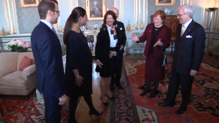 Kruununprinsessa Victoria raskaan, presidentti Tarja Halonen, kuninkaalliset, Hovikirjeenvaihtaja