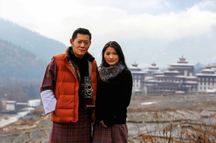 Bhutanin kuningas ja kuningatar, kuninkaallinen vauva, kuningatar Jetsun Pema