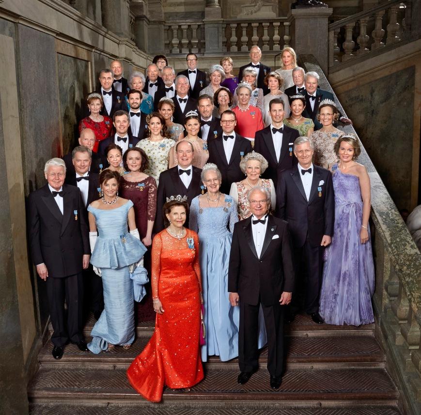 Ruotsin kuningas Kaarle Kustaan syntymäpäivä, kuninkaalliset vieraat
