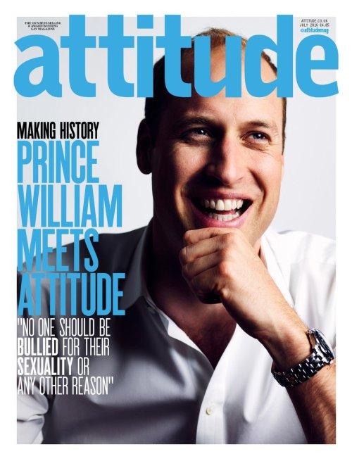 Prinssi William homoseksuaaleille suunnatun Attitude-lehden kannessa, seksuaalivähemmistöt ja kuninkaalliset, Hovikirjeenvaihtaja