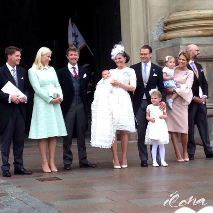 Prinssi Oscarin ristiäiset yleisössä, Tukholma