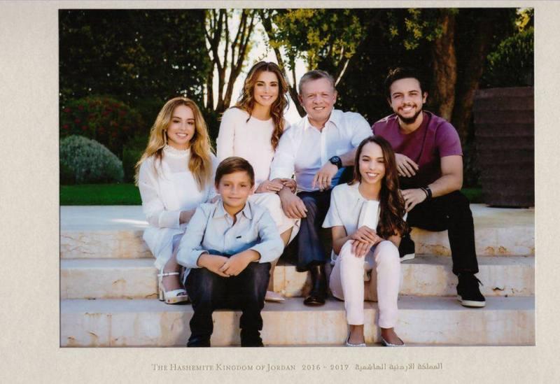 Jordanian kuningatar Rania ja kuningasperhe