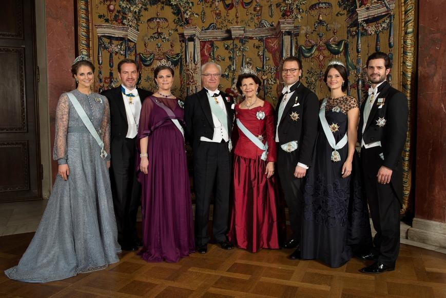 Ruotsin kuningasperhe, Nobel-gaala, kuninkaalliset