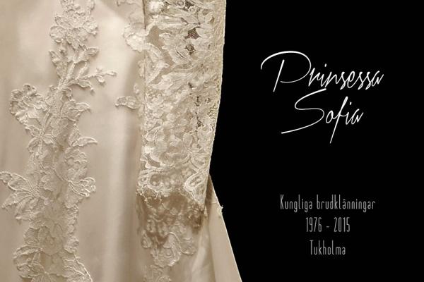 Ruotsin prinsessa Sofian hääpuku, kuninkaalliset hääpuvut, kuninkaallinen hääpukunäyttely, Kungliga brudklänningar, Tukholma, Princess Sofia's wedding gown, wedding dress exhibition Stockholm
