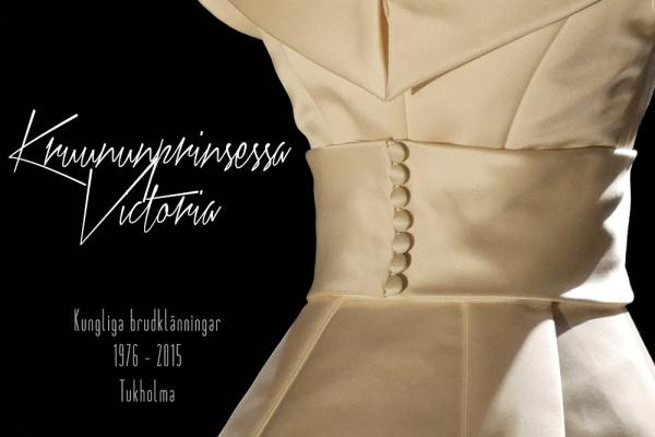Ruotsin kruununprinsessa Victorian hääpuku, kuninkaalliset hääpuvut, kuninkaallinen hääpukunäyttely, Kungliga brudklänningar, Tukholma, Crown Princess Victoria's wedding gown, wedding dress exhibition Stockholm