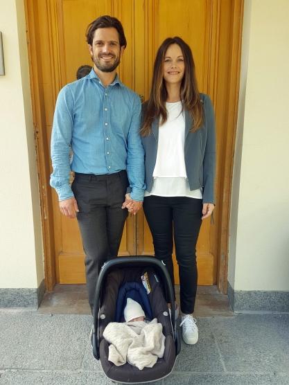 Ruotsin prinsessa Sofia ja prinssi Carl Philip toinen lapsi