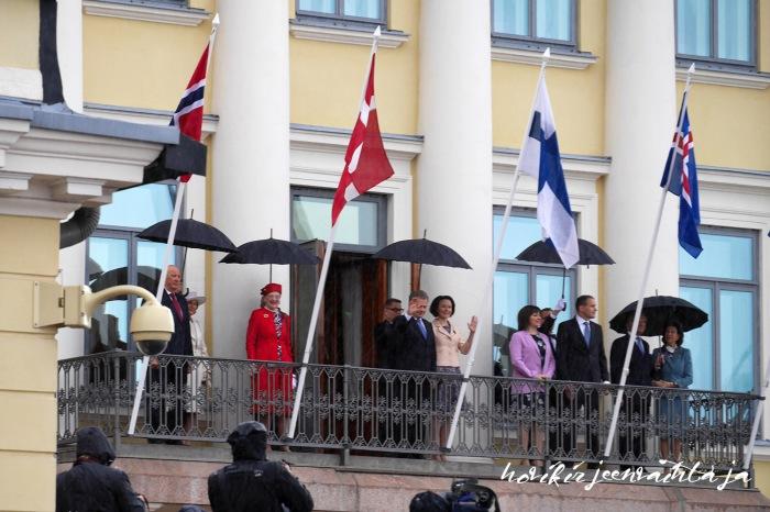 Ruotsin, Norjan ja Tanskan kuninkaalliset Suomessa, Suomi100, Tanskan kuningatar Margareeta, Ruotsin kuningas Kaarle Kustaa ja kuningatar Silvia, Norjan kuningas Harald ja kuningatar Sonja