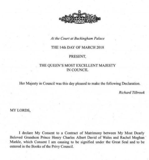 Prinssi Harry ja Meghan Markle naimisiin, kuningatar Elisabetin lupa