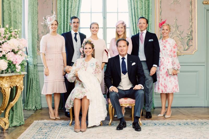 Prinsessa Adriennen ristiäiset, kastejuhla, kuvat, kuninkaalliset, Hovikirjeenvaihtaja, prinsessa Madeleine, Chris O'Neill, Ruotsin kuningasperhe