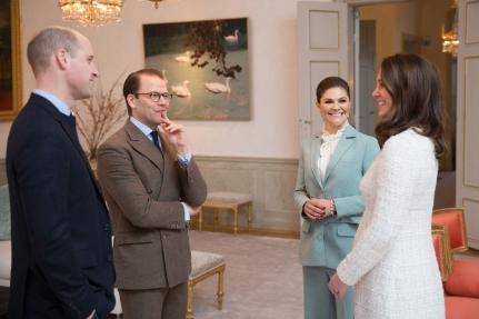 Prinssi William ja herttuatar Catherine, Kate Middleton, Ruotsissa, kruununprinsessa Victoria, prinssi Daniel