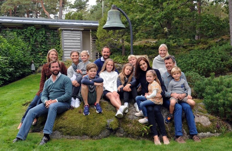 Ruotsin, Norjan, Tanskan kruununperilliset perheineen